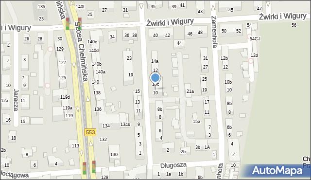 Toruń, św. Andrzeja Boboli, 10a, mapa Torunia