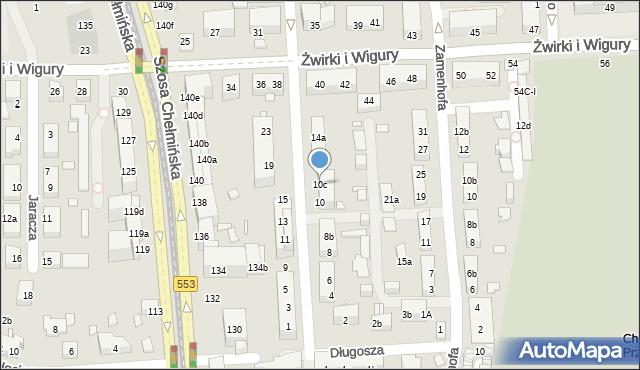 Toruń, św. Andrzeja Boboli, 10c, mapa Torunia