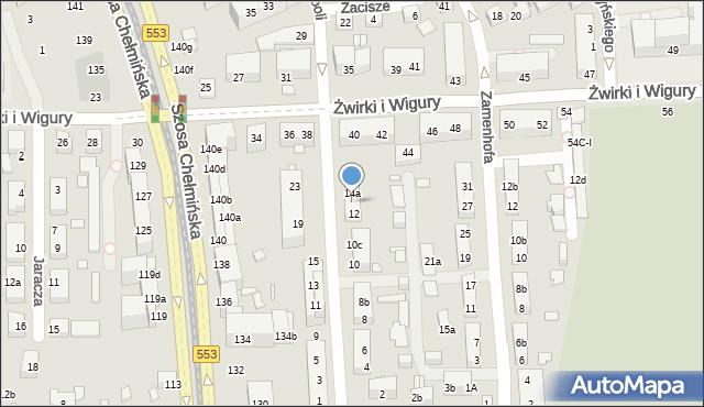 Toruń, św. Andrzeja Boboli, 14, mapa Torunia