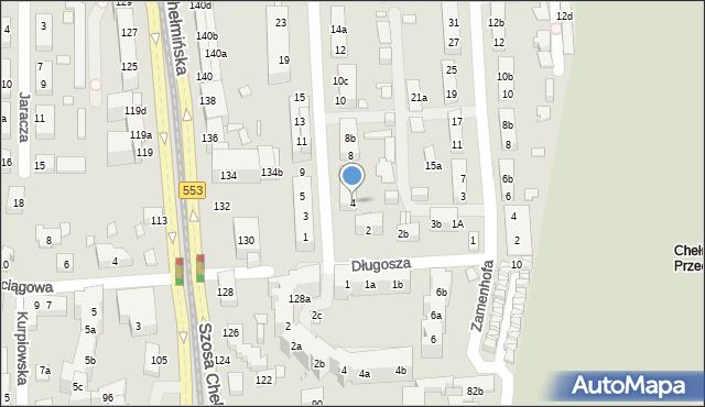 Toruń, św. Andrzeja Boboli, 4, mapa Torunia