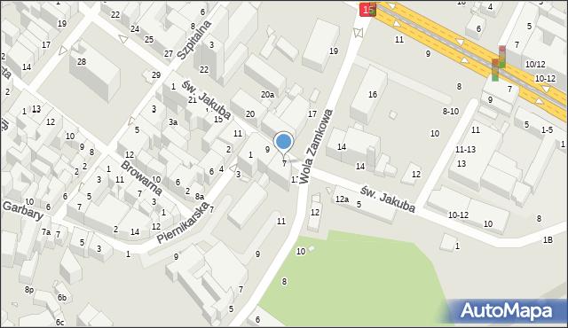 Toruń, św. Jakuba, 7, mapa Torunia