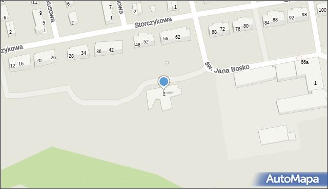 Toruń, św. Jana Bosko, 2, mapa Torunia