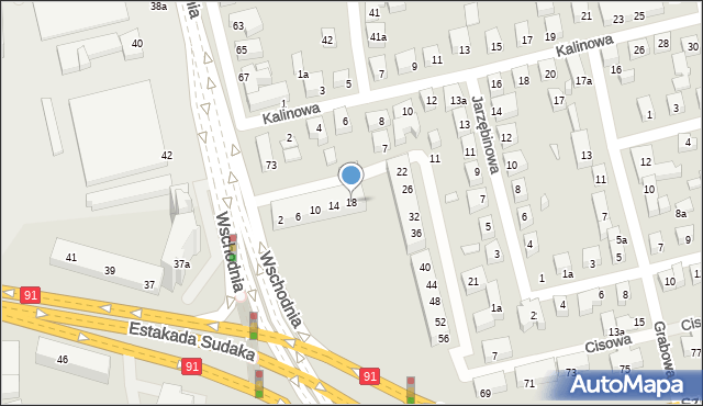 Toruń, Świerkowa, 18, mapa Torunia