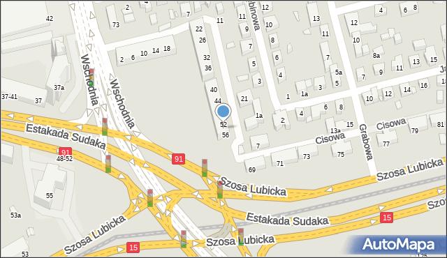 Toruń, Świerkowa, 54, mapa Torunia