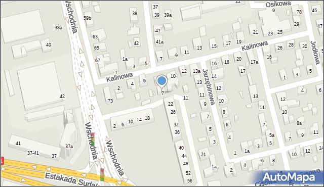 Toruń, Świerkowa, 7, mapa Torunia