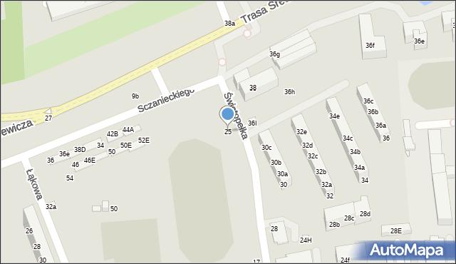 Toruń, Świętopełka, 25, mapa Torunia