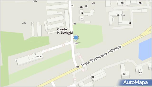 Toruń, Świętopełka, 38b, mapa Torunia