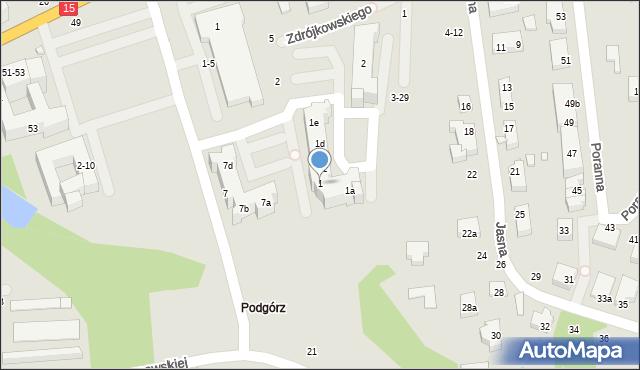 Toruń, Swinarskiego Antoniego, 1, mapa Torunia