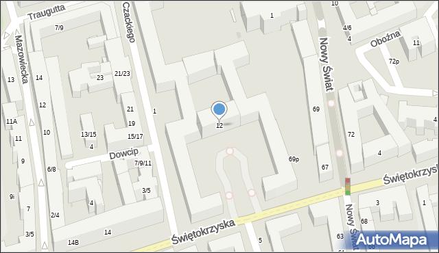Warszawa, Świętokrzyska, 12, mapa Warszawy