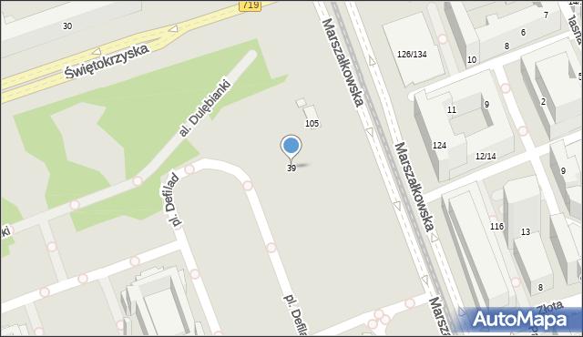 Warszawa, Świętokrzyska, 39, mapa Warszawy