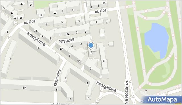 Warszawa, św. Teresy, 2, mapa Warszawy
