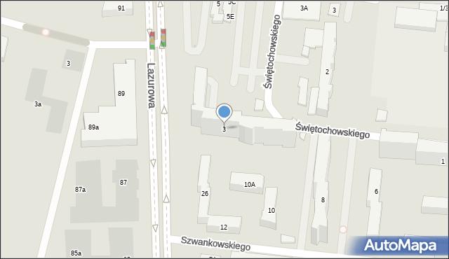 Warszawa, Świętochowskiego Aleksandra, 3, mapa Warszawy