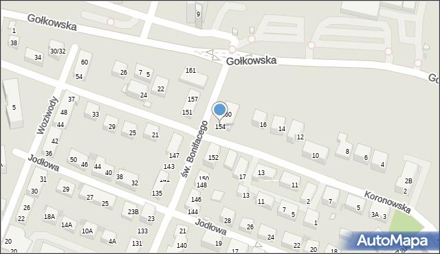 Warszawa, św. Bonifacego, 154, mapa Warszawy
