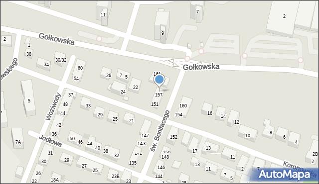 Warszawa, św. Bonifacego, 159, mapa Warszawy
