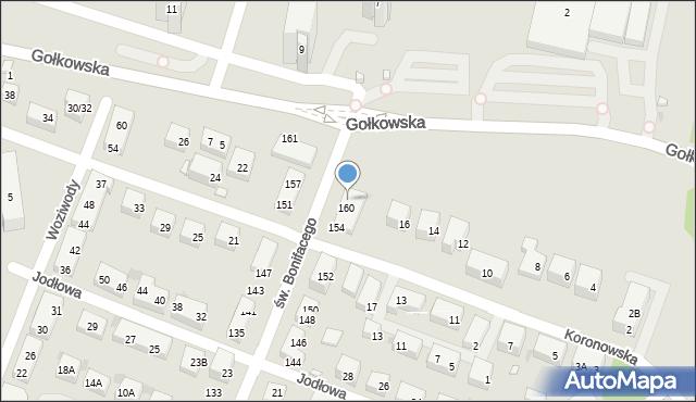 Warszawa, św. Bonifacego, 162, mapa Warszawy