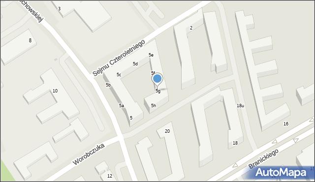 Warszawa, św. Urszuli Ledóchowskiej, 5g, mapa Warszawy