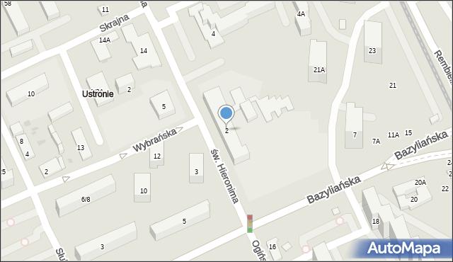 Warszawa, św. Hieronima, 2, mapa Warszawy