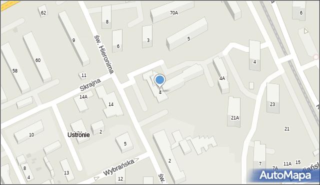 Warszawa, św. Hieronima, 4, mapa Warszawy
