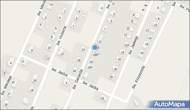 Wilkszyn, św. Gerarda, 13A, mapa Wilkszyn