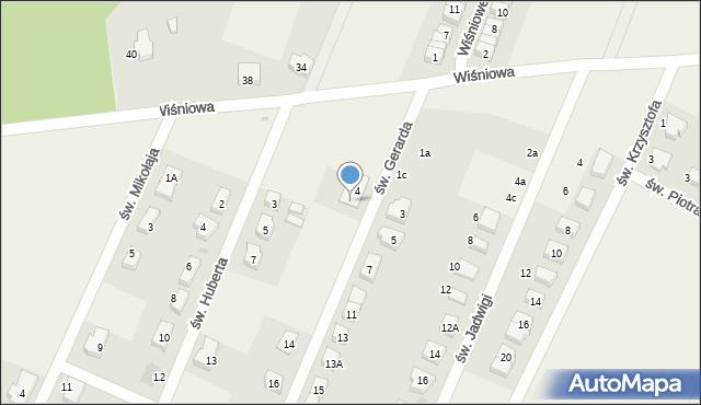 Wilkszyn, św. Gerarda, 6, mapa Wilkszyn