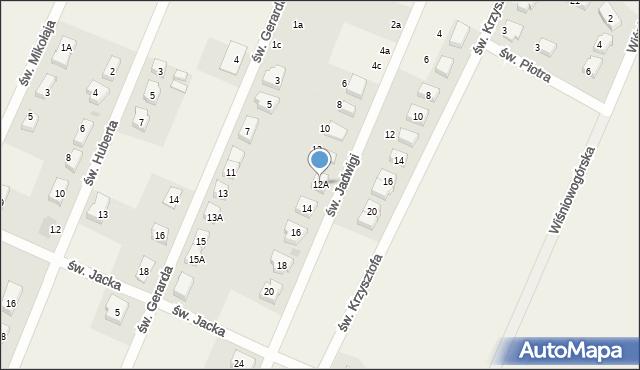 Wilkszyn, św. Jadwigi, 12A, mapa Wilkszyn