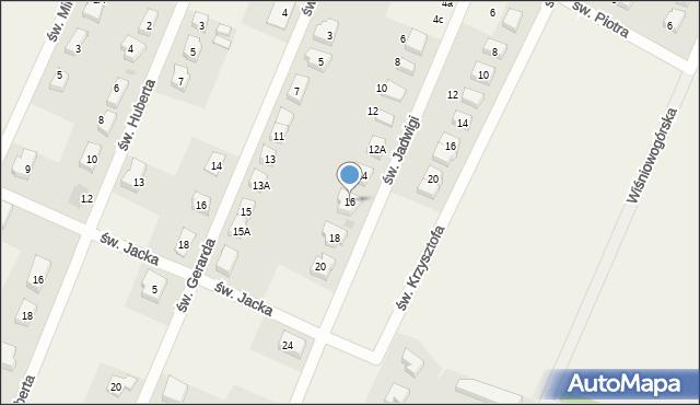 Wilkszyn, św. Jadwigi, 16, mapa Wilkszyn