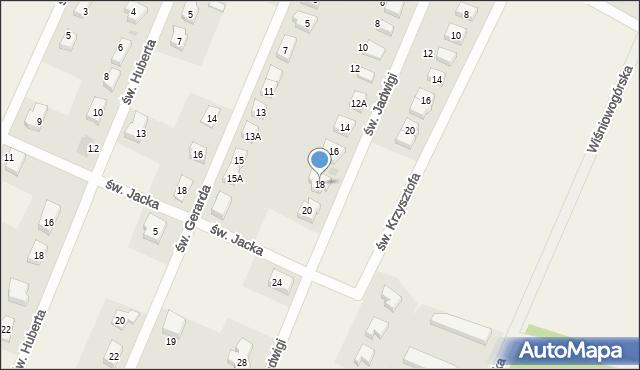 Wilkszyn, św. Jadwigi, 18, mapa Wilkszyn