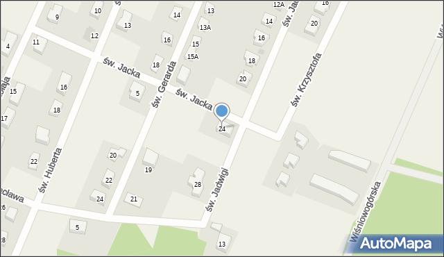 Wilkszyn, św. Jadwigi, 24, mapa Wilkszyn