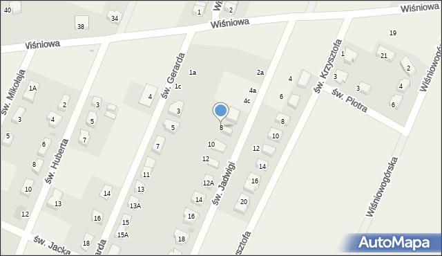 Wilkszyn, św. Jadwigi, 8, mapa Wilkszyn