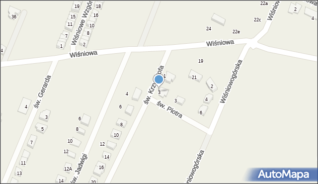 Wilkszyn, św. Krzysztofa, 3, mapa Wilkszyn