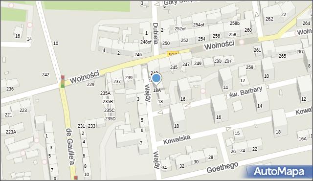 Zabrze, św. Barbary, 18A, mapa Zabrza