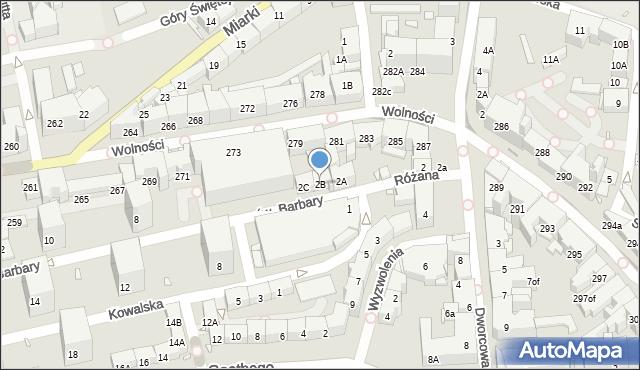 Zabrze, św. Barbary, 2B, mapa Zabrza