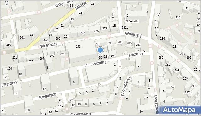 Zabrze, św. Barbary, 2C, mapa Zabrza