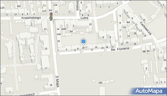 Zabrze, św. Floriana, 10, mapa Zabrza