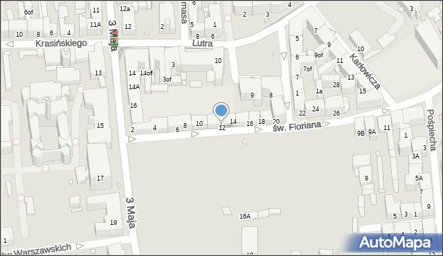 Zabrze, św. Floriana, 12, mapa Zabrza
