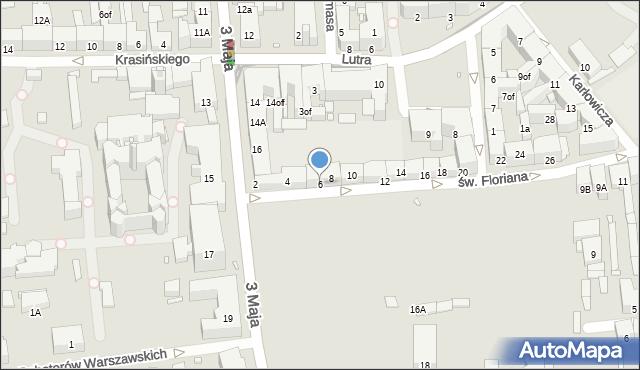 Zabrze, św. Floriana, 6, mapa Zabrza
