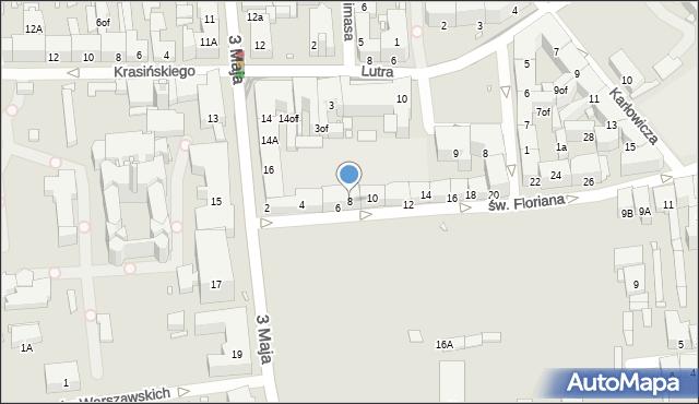 Zabrze, św. Floriana, 8, mapa Zabrza