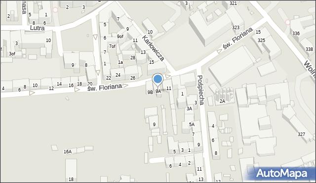 Zabrze, św. Floriana, 9A, mapa Zabrza