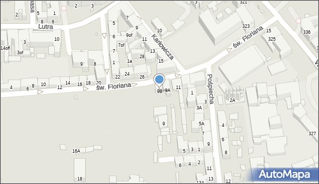 Zabrze, św. Floriana, 9B, mapa Zabrza