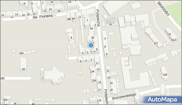 Zabrze, św. Jerzego, 1, mapa Zabrza