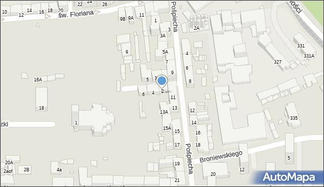Zabrze, św. Jerzego, 2, mapa Zabrza