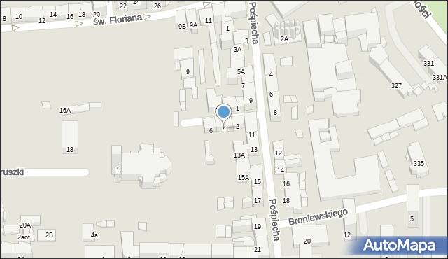 Zabrze, św. Jerzego, 4, mapa Zabrza