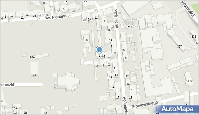 Zabrze, św. Jerzego, 5, mapa Zabrza