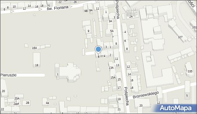 Zabrze, św. Jerzego, 6, mapa Zabrza