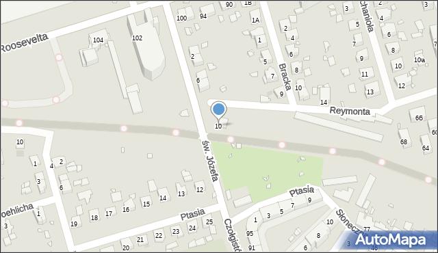 Zabrze, św. Józefa, 10, mapa Zabrza
