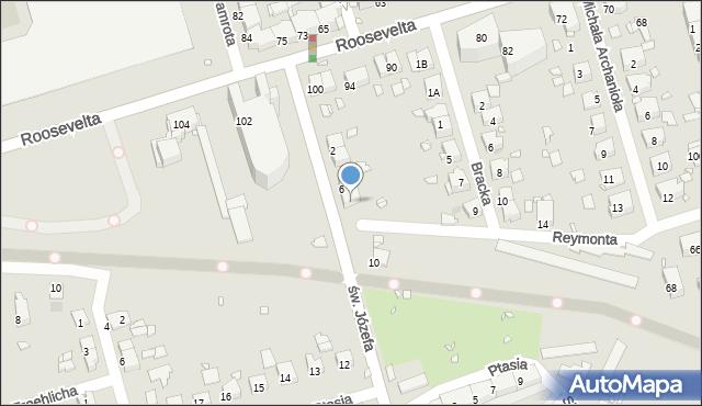 Zabrze, św. Józefa, 8, mapa Zabrza