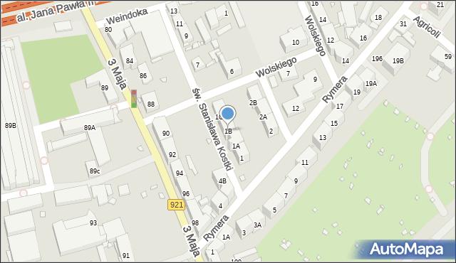 Zabrze, św. Stanisława Kostki, 1B, mapa Zabrza