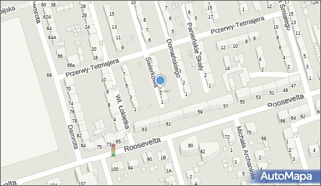 Zabrze, Świerkowa, 2, mapa Zabrza