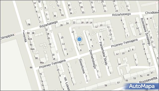 Zabrze, Świerkowa, 7, mapa Zabrza
