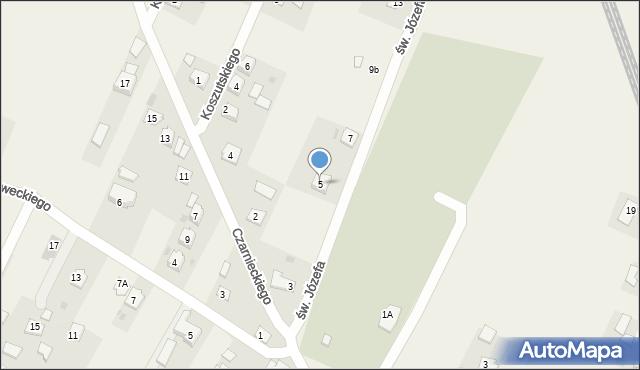 Żurawica, św. Józefa, 5, mapa Żurawica